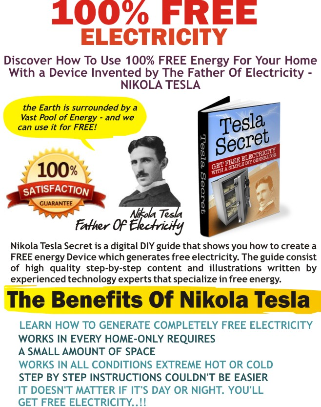 Charming How Can You Make Electricity From Simple Objects Around The House U2013 How To  Generate Free Electricity Tesla